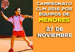 CAMPEONATO CLM POR EQUIPOS MENORES 2016