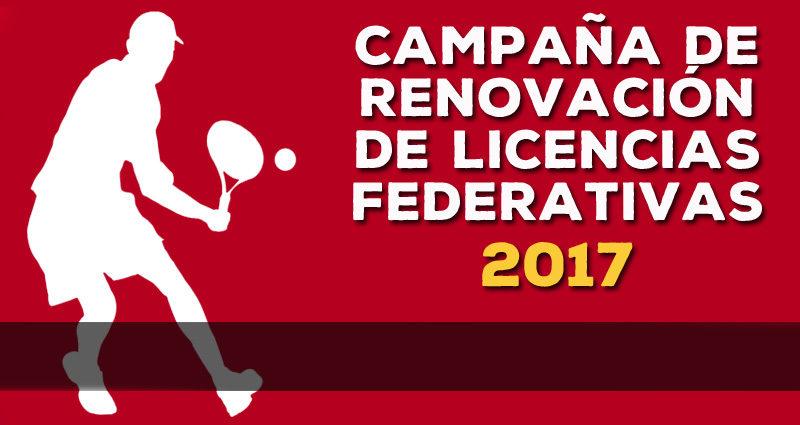 CAMPAÑA DE RENOVACIÓN DE LICENCIAS FEDERATIVAS 2017