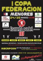 Escuela Pádel 10 albergará la segunda prueba de la Copa Federación de Menores