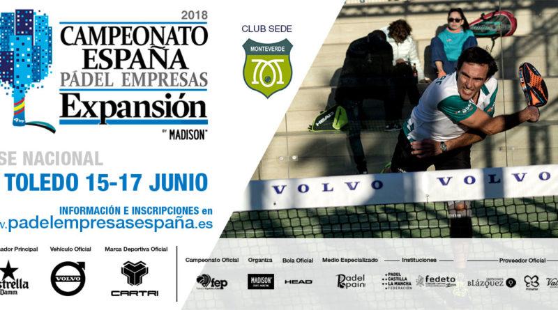 La Fase Nacional en Toledo del Campeonato de España de Empresas Expansión se celebrará en el Club Monteverde