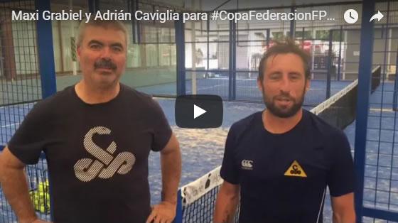 Maxi Grabiel y Adrián Caviglia animan a nuestros menores