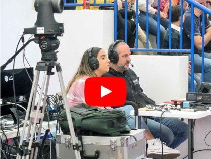 Sandra Nieto ejerció de comentarista en la final del Campeonato de España por Selecciones Absolutas