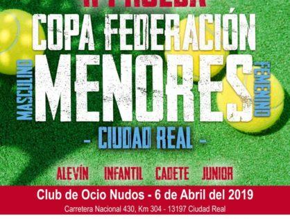 El Club de Ocio Nudos será la sede de la II Prueba de la Copa Federación de Menores 2019 de Ciudad Real