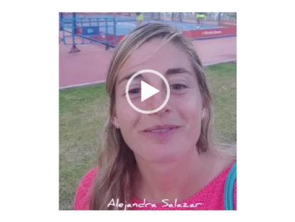 Alejandra Salazar manda ánimos a uno de nuestros equipos femeninos