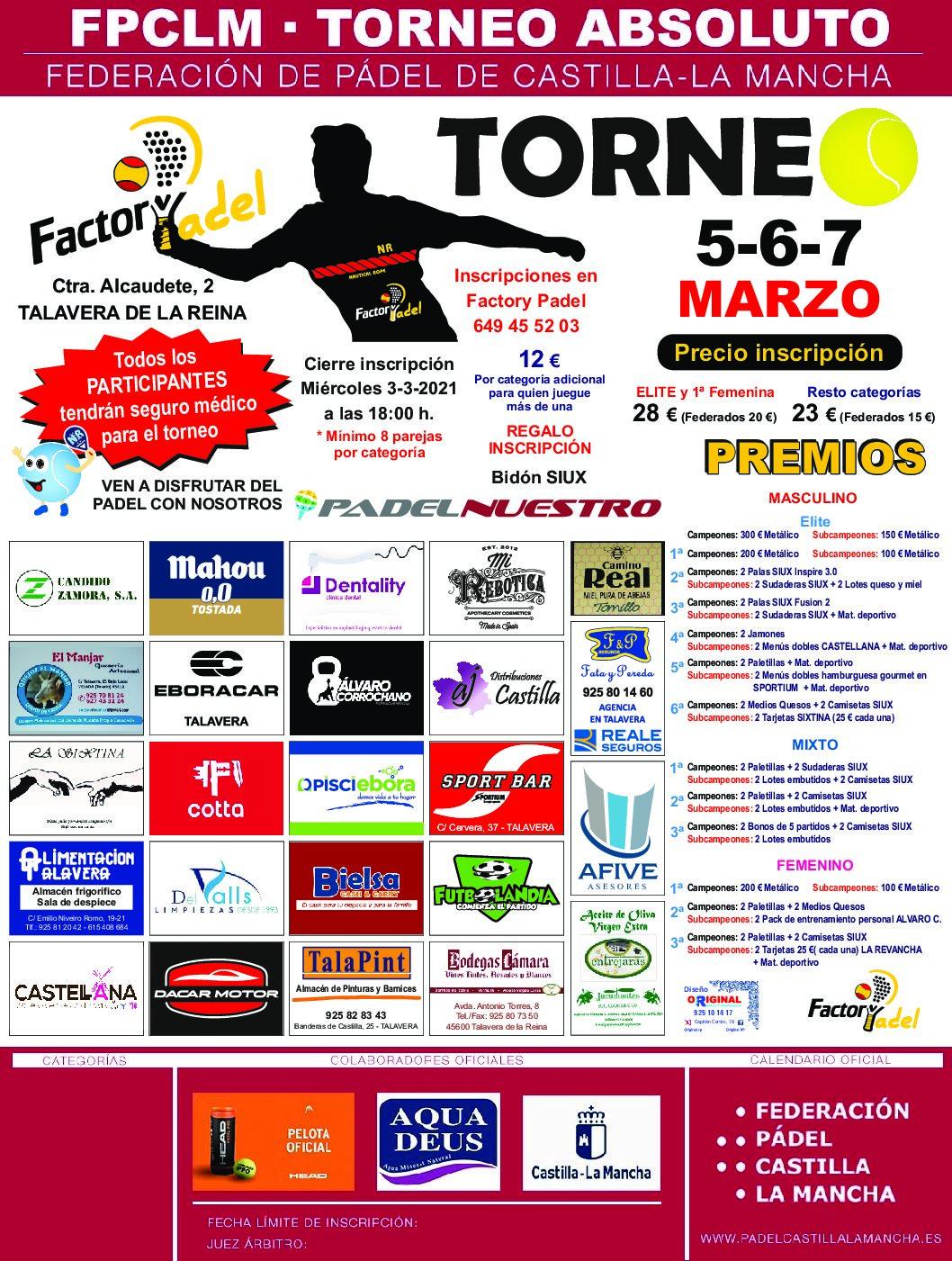 TORNEO FACTORY PADEL