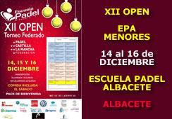 XII Open Escuela de Padel Albacete – Menores
