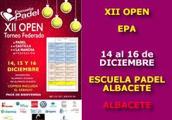 XII Open Escuela de Pádel Albacete