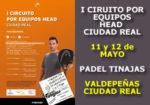 I Circuito Head por Equipos Ciudad Real – 3ª Prueba: Pádel Tinajas